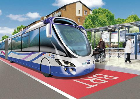 The 2012 report said that the route had 'demand levels that exceed the capacity of a moderate capacity BRT system' and the idea did not progress to the 'later costing and appraisal sections' of the study.