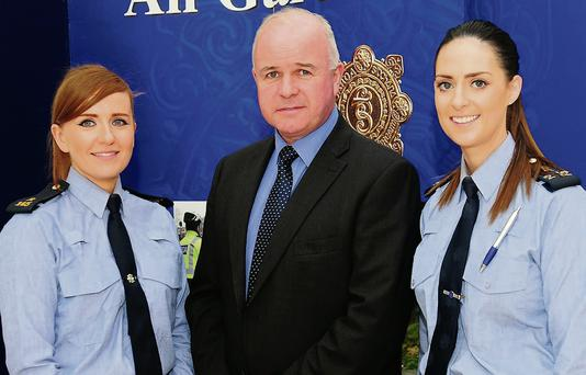 Garda Rebecca McGowan, Sgt. Peter Smith and Garda Deirdre Bradshaw in the Pavilions.