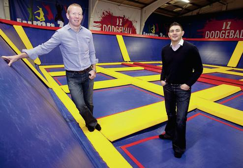 Paul Quinn and Daniel Begley, who are opening their second 'Jump Zone' facility in Santry, creating 60 new jobs.