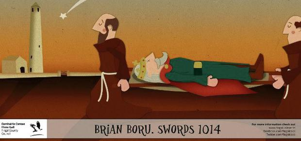 Brian Boru carried by Monks
