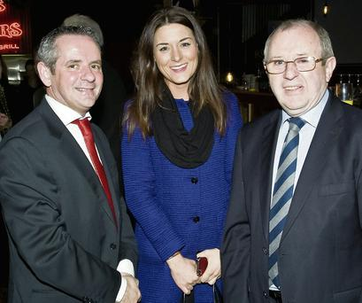 County Manager Paul Reid, Julie Curtin of Country Crest and Tony Lambert, CEO of Fingal Dublin Chamber of Commerce.