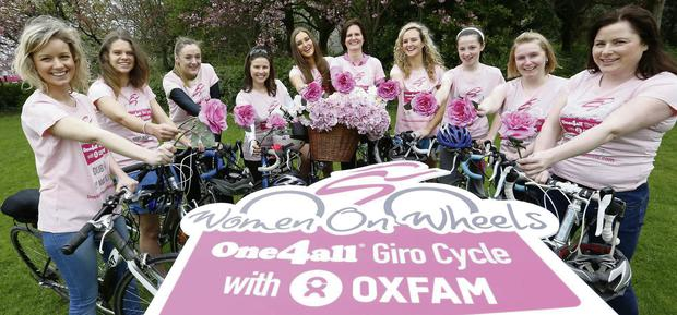 Some enthusiastic cyclists at the launch of the One4all Women on Wheels Giro Cycle.