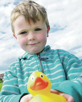 Padraig Cavanagh at the Fingal Community College duck race.
