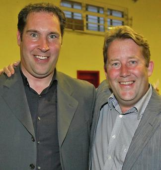 Newly elected councillor Adrian Henchy with Senator Darragh O'Brien. Pic: Tim Ralph Photography