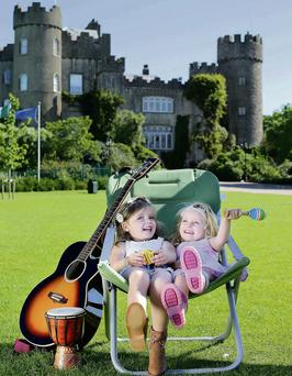 Ella May Melia and Kayla Blanc at the launch of WonderFest, which takes place on August 16 and 17 in the grounds of Malahide Castle and Gardens