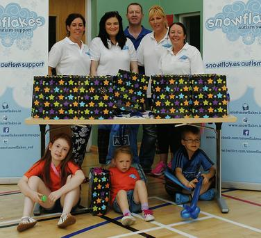 Just some of the parents and young people that make the Snowflake Autism Support Group such a great success