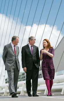 ESB Chief Executive, Pat O'Doherty, chartered engineer; John Power, chartered engineer, director general, Engineers Ireland and Dr Niamh Shaw at the launch of the fifth annual Engineers Ireland Excellence Awards, in association with the ESB