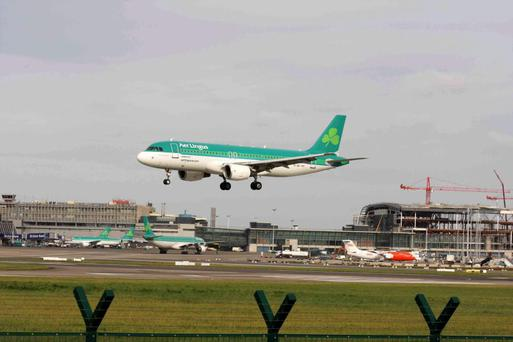 The plane landed at Dublin airport at 8.02am.
