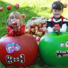 Pictured celebrating the arrival of Keelings Monster Apples is Luke Martin and Chloe Walsh both aged 6.