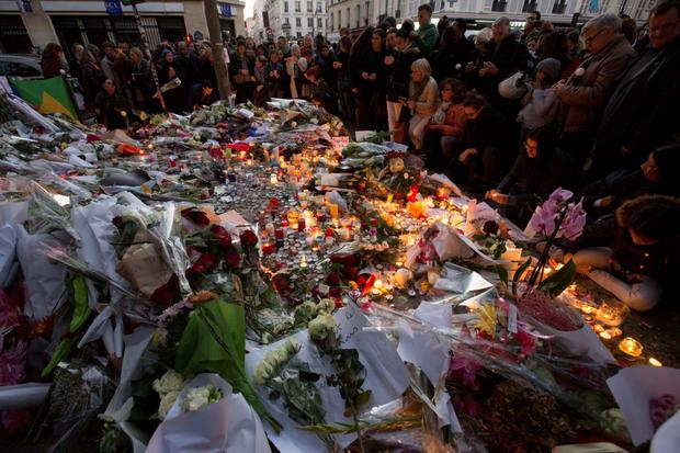 Mourners in Paris, captured by the camera of Lusk photographer Mark Condren