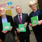 Brendan Rowley, Dermot Russell and Mia Doherty at the launch of Dermot Russell's book 'Primary Education in the Village of Lusk'