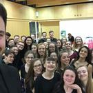 The Fingal Youth Choir before a recent performance