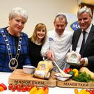 Marie O'Toole, National President of the ICA; Caroline Cummins, nutritionist with Manor Farm; Shay O'Connor, Butchery Specialist with Manor Farm; Vincent Carton, Managing Director at Manor Farm