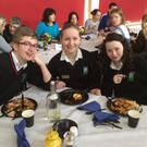 Fingal Community College students enjoying the celebratory lunch