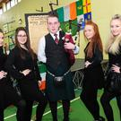 Sarah Gordan, Elizabetha Cirica, Christopher Russell, Ava Logue and Jelena Levenoka at the 1916 events in Fingal Community College