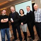 Gavin Killen from Digiprove, Kevin Ducray, senior clinical pscyhologist at the National Drugs Treatment Centre, Louise McCulloch (Task Force) with Dr Gerry McCarney and Cian Kinsella from Digiprove