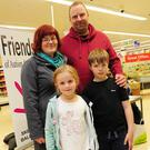 Mandie, Martin, Fenna and Finn Leenheer at Tesco Balbriggan