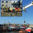 The rescue operation at Balbriggan harbour