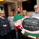 Eilish McDermott, Rita McDermott, Breda Dockrell, Tom Horton and Larry Carolan at the Bleeding Pig quiz night in Keeling's, Donabate