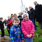Residents of Pinewood estate in Balbriggan who have opposed the modular home plan