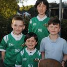 At the Balbriggan Summerfest from left was Conor, Jimmy and Alex McFadden with Eddie Darcy. Photo David O'Shea