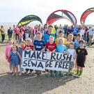Residents of Rush have been campaigning for an end to the discharge of sewage into the sea