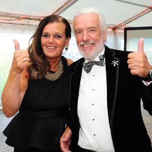 Kay Coleman and Terry McCoy at the Skerries Water Festival black tie ball