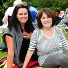 Gemma English and Deirdre Walsh at the Wuthering Heights outdoor theatre in Ardgillan Castle