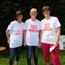 Helen McGivern, Avril McDermott and Madeleine Clarke at a recent protest at Malahide Castle