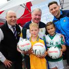 Ciaran Gough, Man o War, and Shannon Byrne, O'Dwyer's, with Store Manager Brian Carrick, Luke Moriarty and Philly McMahon