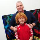 Martin and Peter Hughes at the art exhibition in Balbriggan