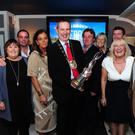 Fingal Mayor Darragh Butler with Chamber at the Tidy Towns celebrations in Blue Bar