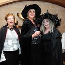 June Ruigrok, Denise Price and Elizabeth Burke at the Halloween murder/mystery dinner in the Bracken Court Hotel