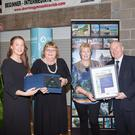 Failte Ireland East & Midland Region Failte Ireland East & Midland Region Value Water National Winner Award: Mary Conway and Maeve McGann receive the award on behalf of Skerries Tidy Towns from Dr. Roisin Bradford, Irish Water and Minister Michael Ring, TD
