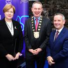 County Architect Fionnula May, Fingal Mayor Darragh Butler and Chief Executive Paul Reid at the Swords Cultural Quarter launch