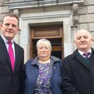 Alan Farrell TD with Pauline McGuinness and John Harris from St. Margaret's & The Ward Residents Group, part of the FORUM group