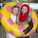 Twins Charlie and Chelsea Ward (12) from Blanchardstown, Dublin