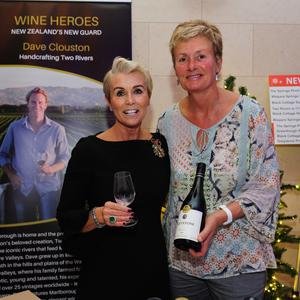 Siobhan Gibney and Joyce Austin at the Gibney's annual wine fair in the Grand Hotel