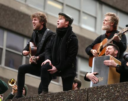 Swords band Kodaline and Glen Hansard perform at Apollo House