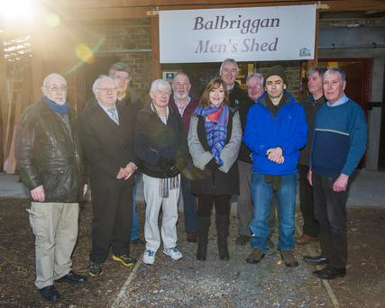 Local counsellor Paula Hughes paid a visit to the Men's Shed in Balbriggan last week
