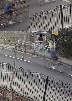 Gardai are looking to speak to a cyclist who may have witnessed the raiders of a jewellery store make their escape