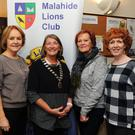 Bernadette Murray, Sheilagh McGirl, Paula Bradley and Mary McNamara at the Malahide Lions Club table quiz at Malahide Yacht Club