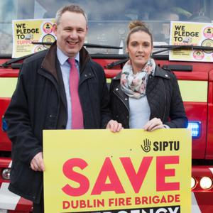 Mayor of Fingal Cllr Darragh Butler and Sharon Cooke