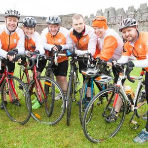 Participants in the Cycle Against Suicide which started in Swords at the weekend.