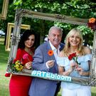 Audrey McGrath, Marty Whelan and Miriam O'Callaghan at the RTE announcement that it will broadcast live from Bloom over the five days of the festival.
