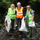 Sandra Sweetman, Cllr Darragh Butler and Alan Dodd at the Swords Tidy Towns clean up