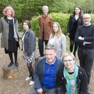 Selected artists and CFCP team in Ashford, Co. Wicklow, from the back row, left: El Putnam, Eleanor Lawler, Mirjana Rendulic, Olga Dziubak, Kiera O'Toole, Ian Oliver, Mark Lawlor and project curator Monika Sapielak. Photo: Tony Kinlan