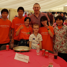 Members of the Japanese Children Project with Cllr Darragh Butler and his son, Adam
