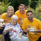 Eleanor Flew, Our Lady's Hospce & Care Services; Nuala Drennan; Mark Saunders, Bewleys and Keith Duffy, Ambassador