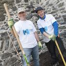 Alan Keogh and Cormac Smith at the Swords Castle Digging History Project